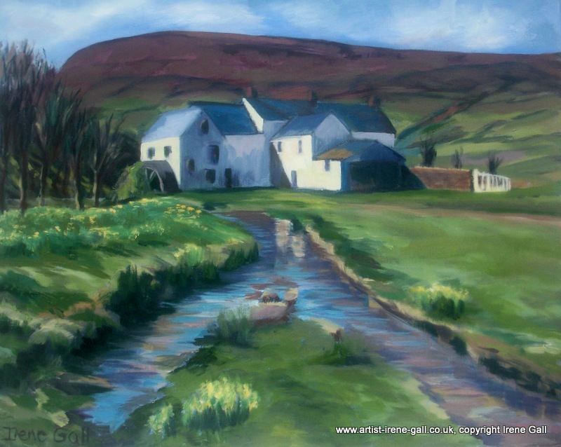 The Old Mill by contemporary Scottish artist Irene Gall of Thornhill, Dumfries and Galloway
