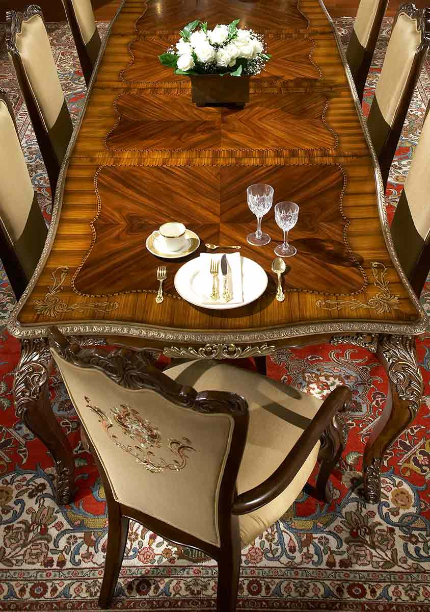 Imperial Court dining table detail