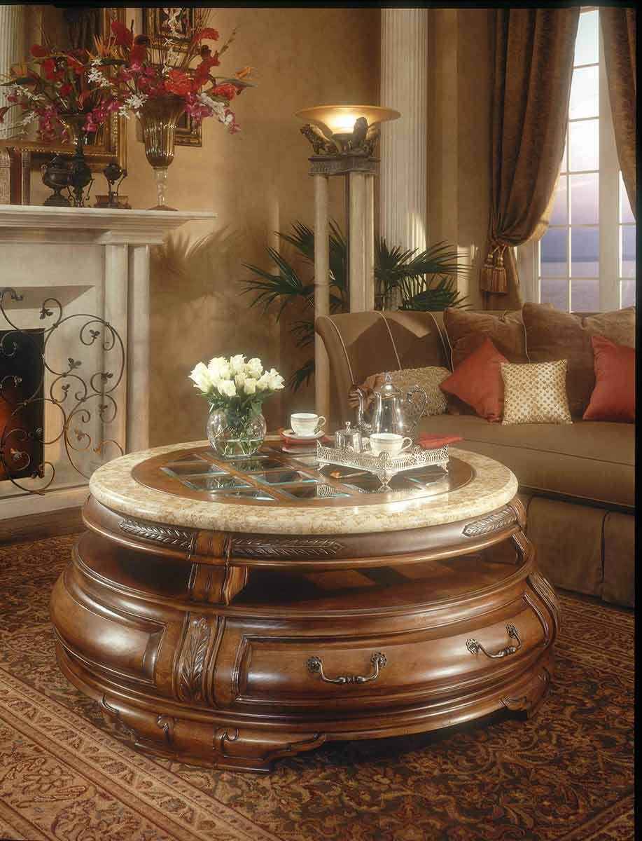 The Tuscano round cocktail table