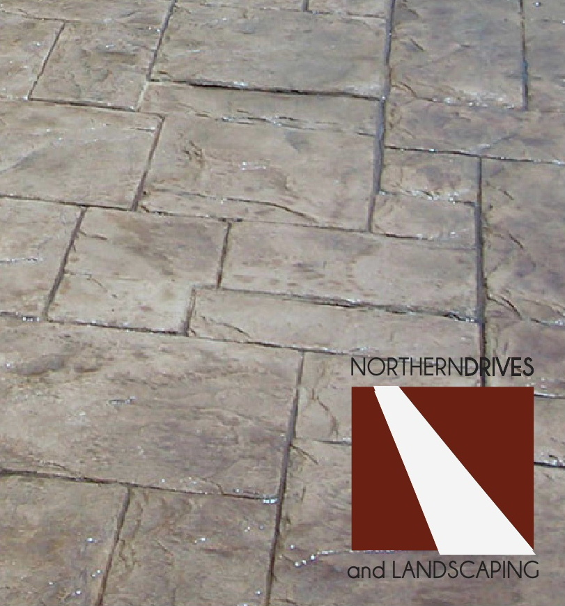 Patterned concrete driveways and pattern stamped driveways York