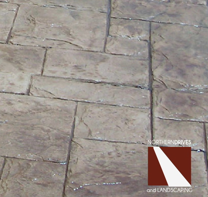 Patterned concrete driveways and pattern stamped driveways Sheffield