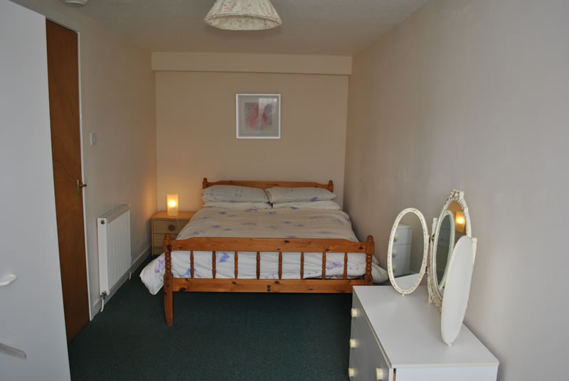 One of the double bedrooms at Greenbank, self-catering holiday apartment in Killin, Perthshire, Scotland