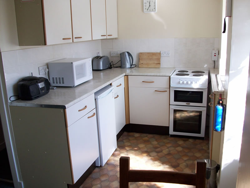 The kitchen at Greenbank, self-catering holiday apartment in Killin, Perthshire, Scotland