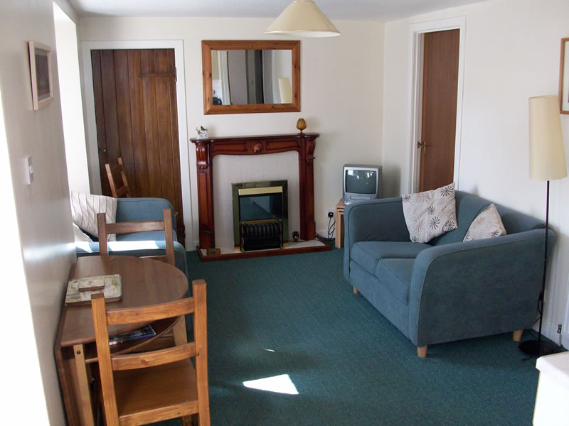 The lounge at Greenbank, self-catering holiday apartment in Killin, Perthshire, Scotland
