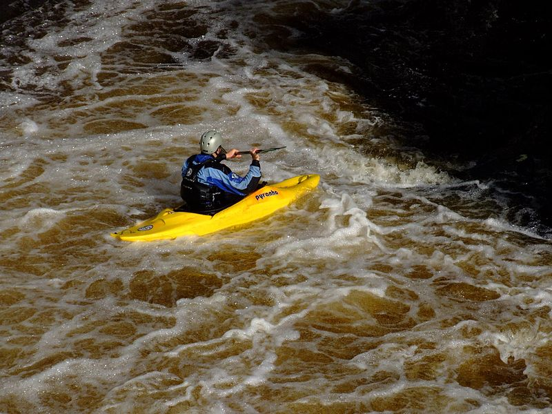 Kayaking in Killin, Perthshire, Scotland