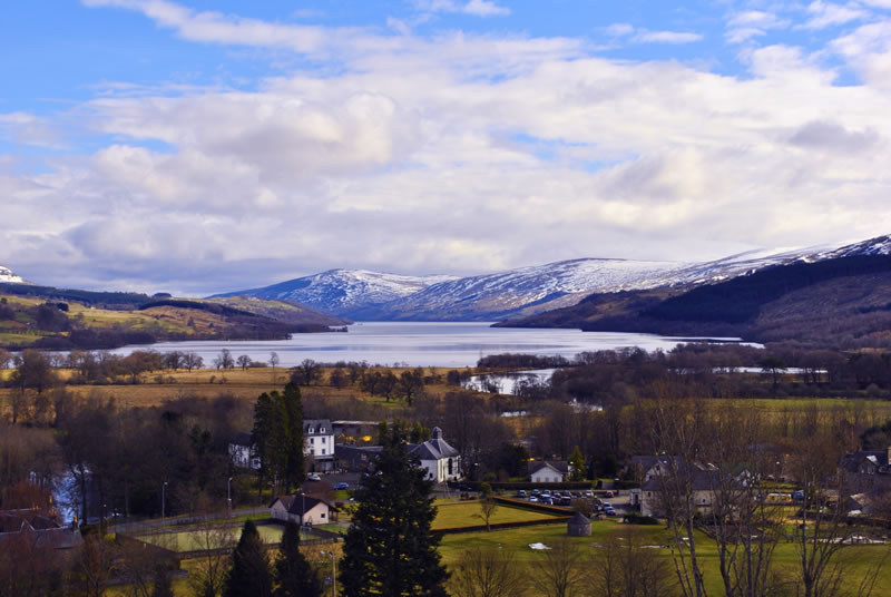 A view of Killin and Loch Tay