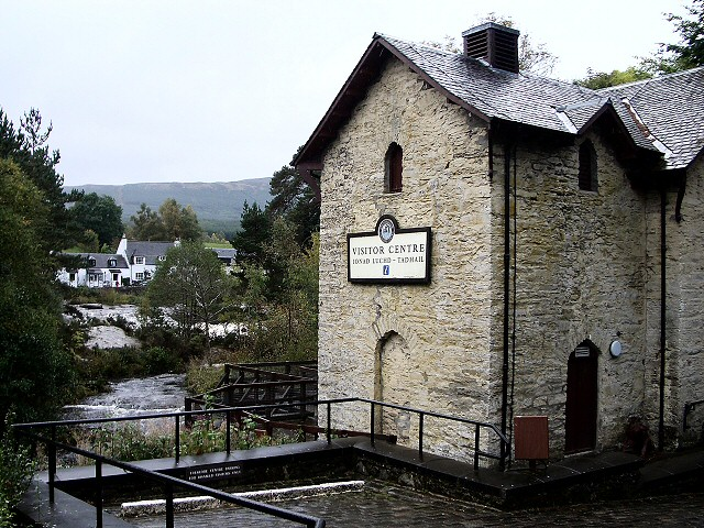 The Old Mill, Killin, perched on the Falls of Dochart