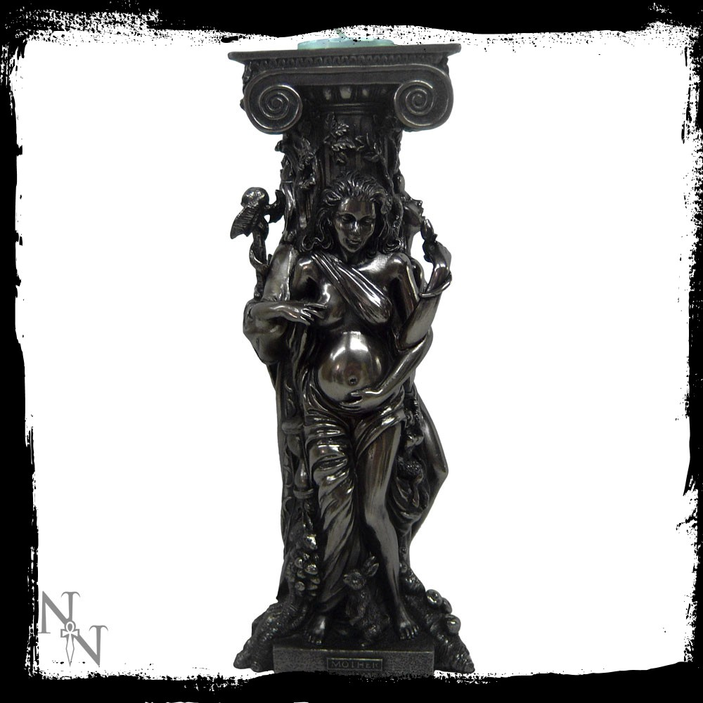 Triple Goddess Candle-holder.