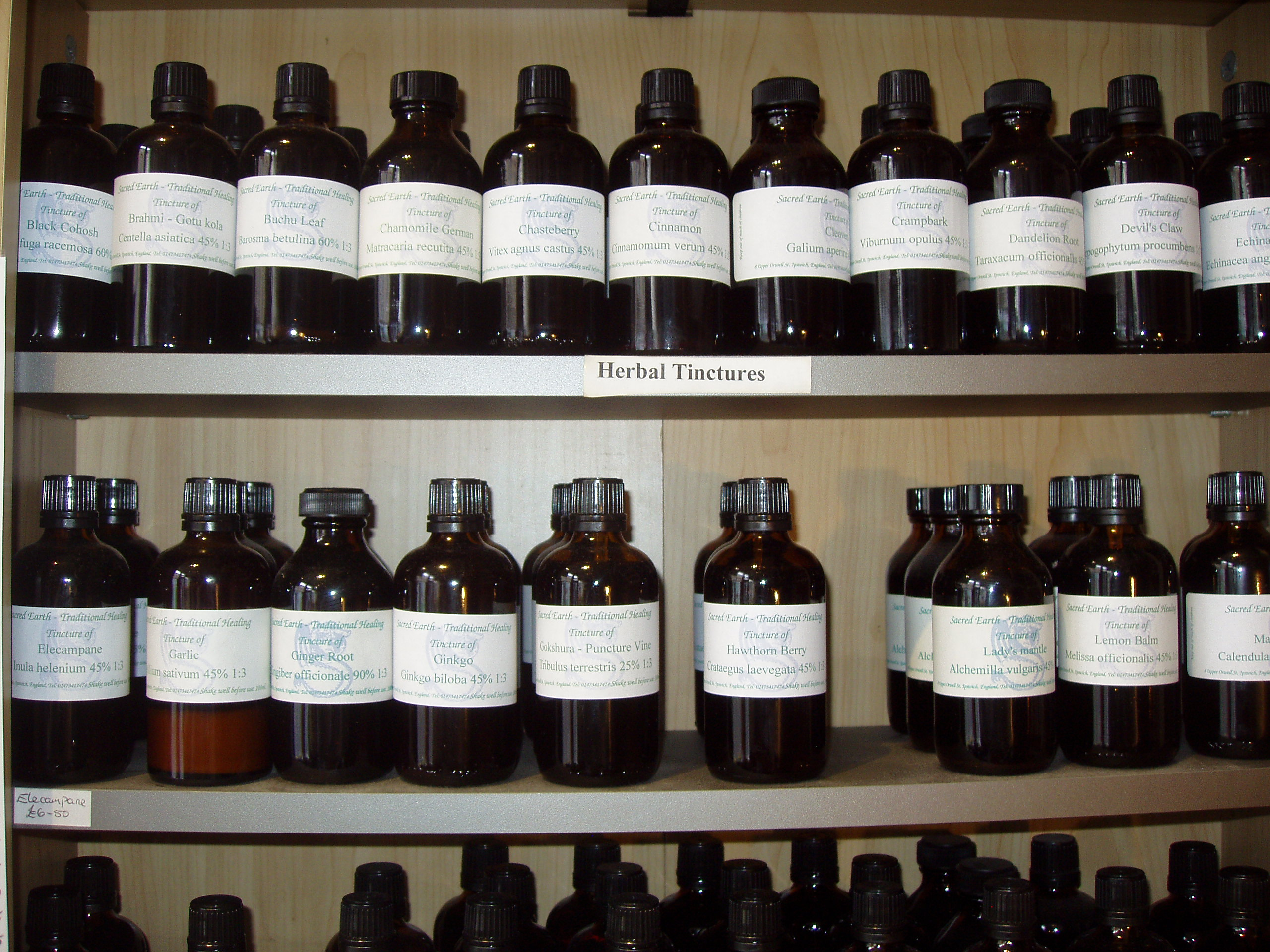 Herbal Tinctures - Horehound herb (White).