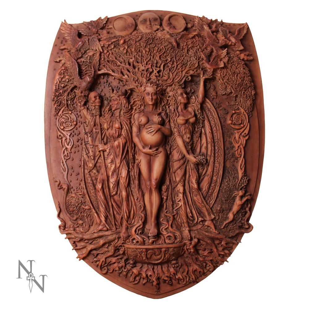 """Triple Goddess Wall Plaque""."