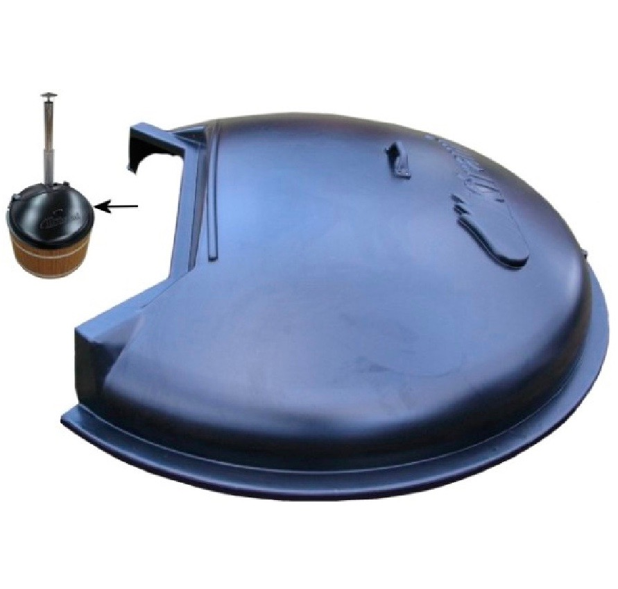 ABS Plastic Round Lid for the wood fired hot tub range by Kirami supplied by Wood Fire Water in the UK