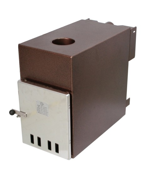 The Cult wood fired heater for the Kirami Hot Tub Range supplied by Wood Fire Water in the UK