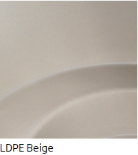 The beige LDPE finish for Cozy Tubs