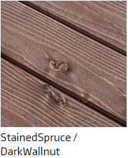 Dark Walnut or Stained Spruce finish