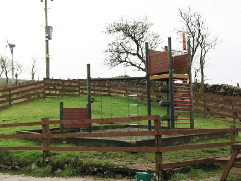 Children are well catered for at Glenquicken Farm holiday cottages with their own play area and the possibility of visiting all the farm animals