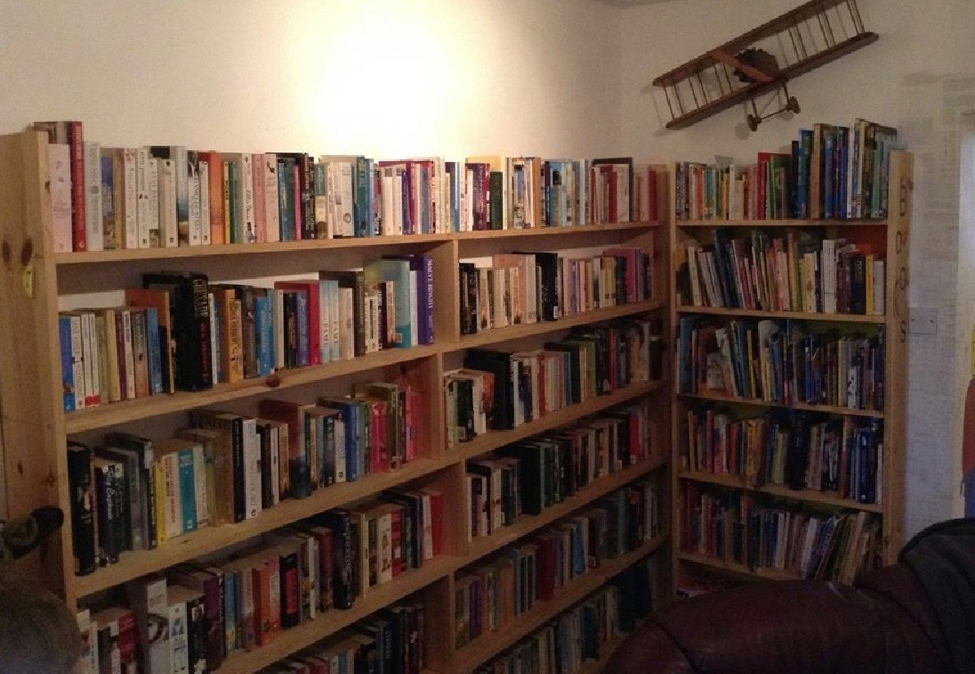 Books at The Glainsnock book themed cafe in Wigtown