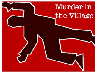 Logo for Murder in the Village, a 30 minute long pre game for your team to use as a warm up exercise before playing Escape from the Room