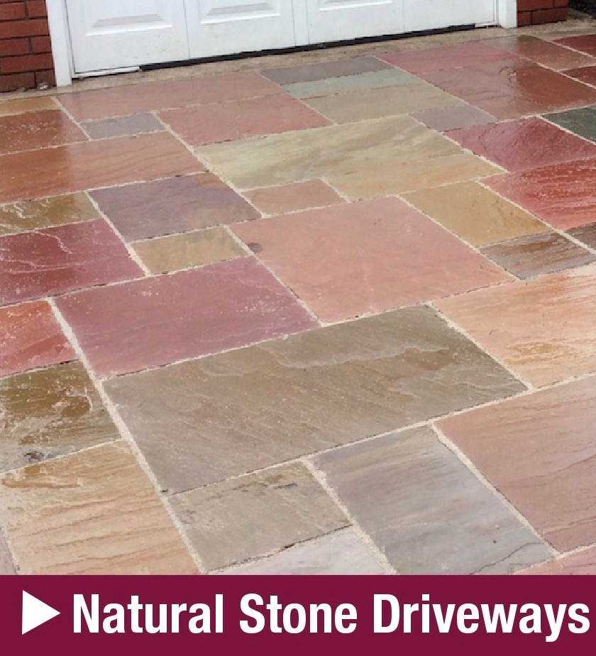 DLP Paving & Fencing Natural Stone Driveways