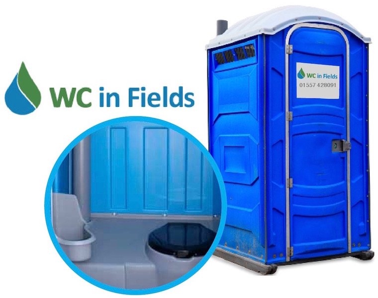 Portable toilet hire Dumfries and Galloway WC in Fields