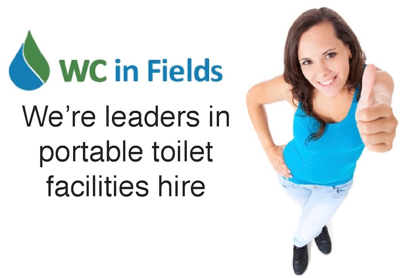 WC in Fields Portable toilet hire Scotland