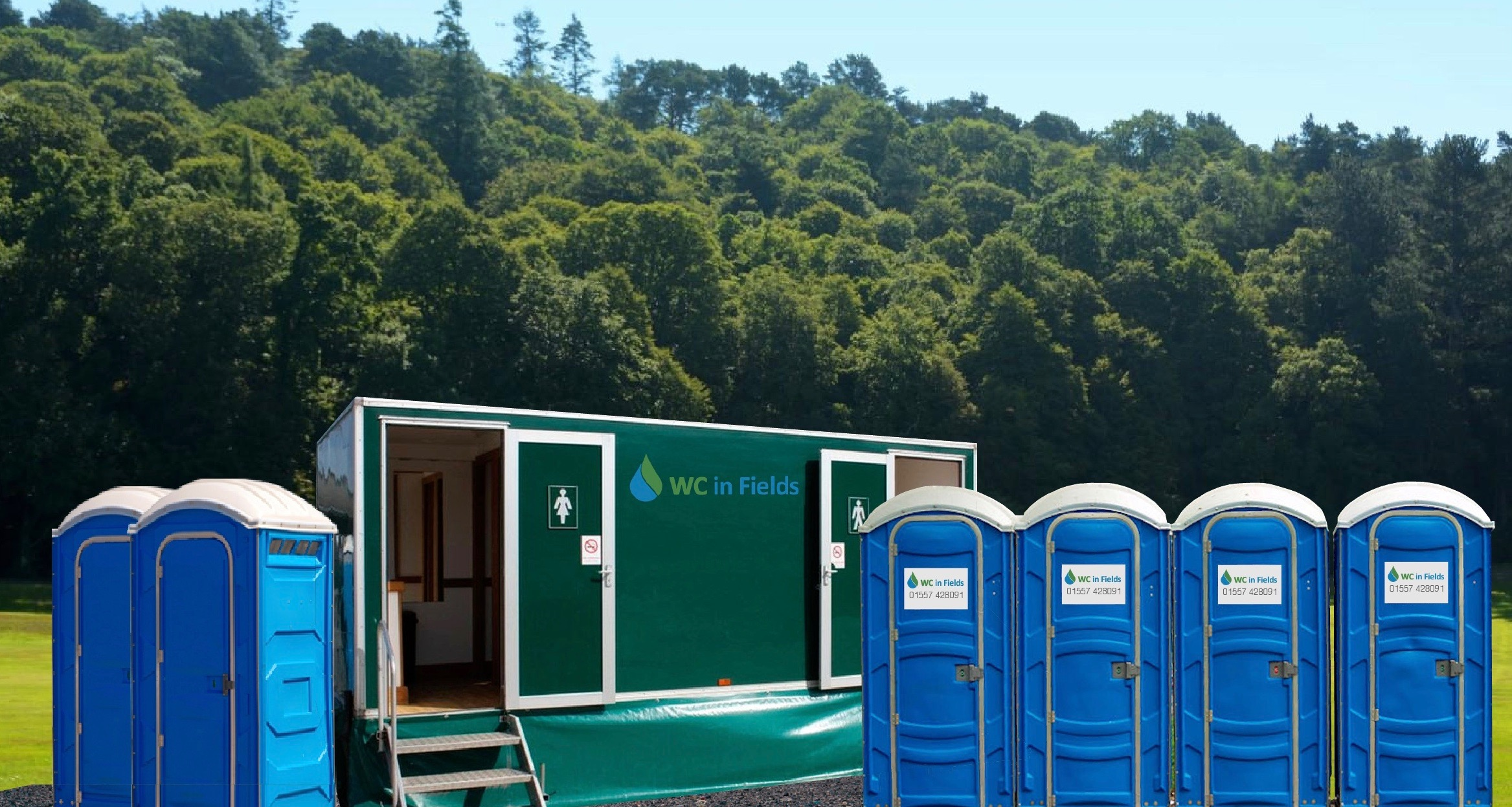 Portable toilet hire from WC in Fields