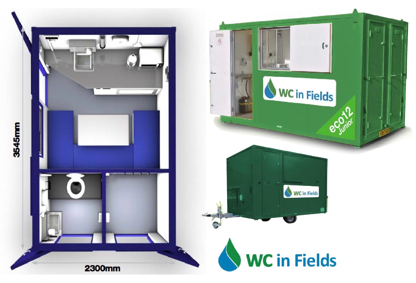 Welfare Unit Hire Dumfries and Galloway by WC in Fields