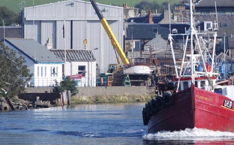 A view of the Alexander Nobles boat yard in Girvan