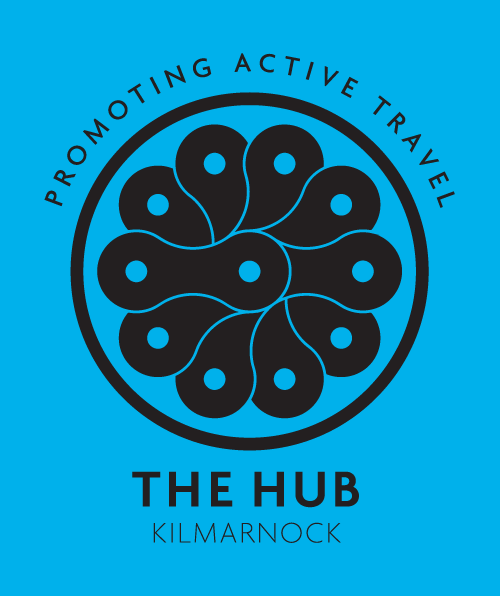 The Promoting Active Travel logo for The Hub Kilmarnock