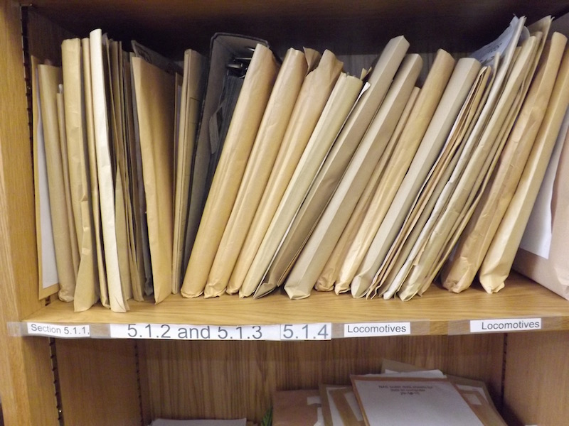 Records at the archives office of the Glasgow & South Western Railway Association