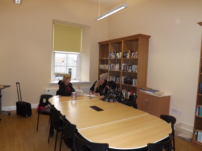 One of the meeting rooms available at Kilmarnock Station