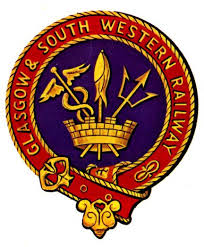 The emblem of the Glasgow and South Western Railway Company