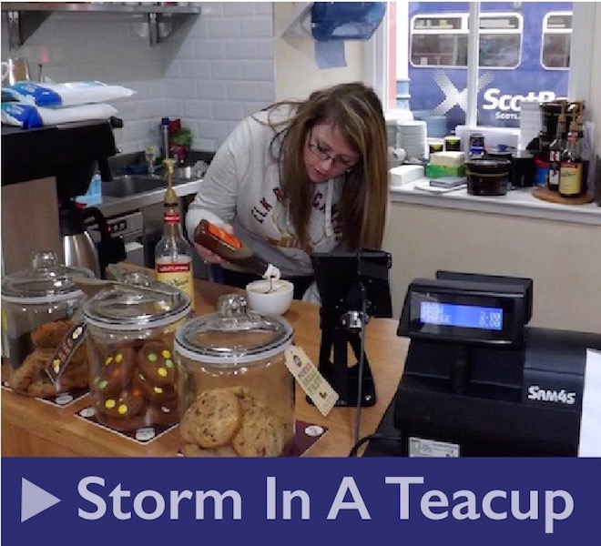 Storm in a Teacup Cafe at Kilmarnock Railway Station