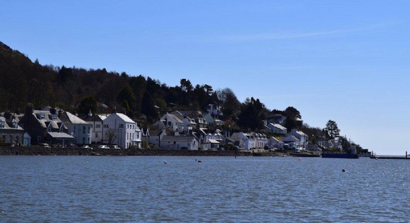 Kippford viewed from the Urr Estuary