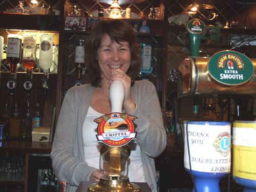 Rhona Wixon, owner of The Kings Arms Hotel, Dalbeattie, Dumfries and Galloway, Scotland