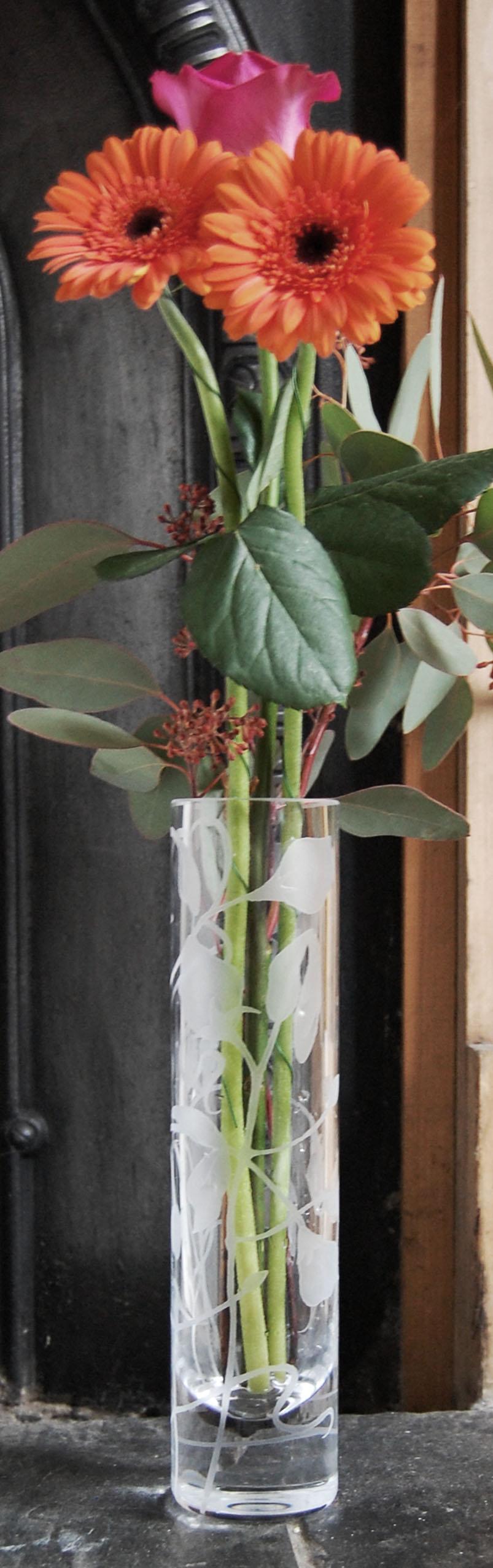 LSA, column, vase, poppy
