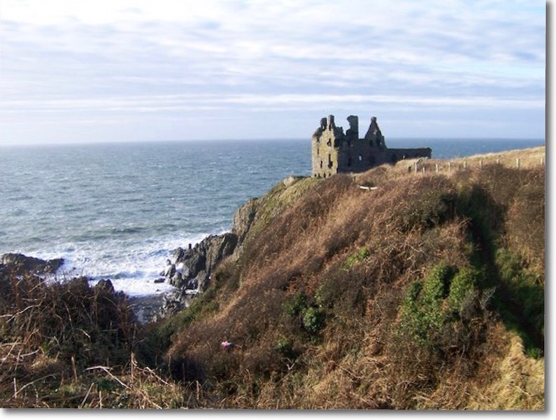 Dunskey Castle ruins at Portpatrick