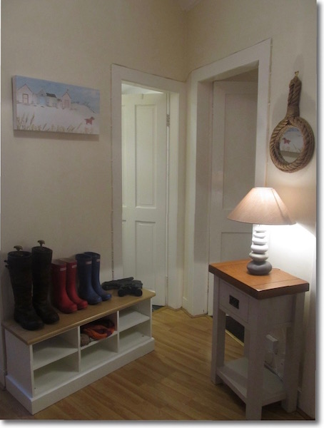 The hallway at The Attic, self catering holiday accommodation in Portpatrick