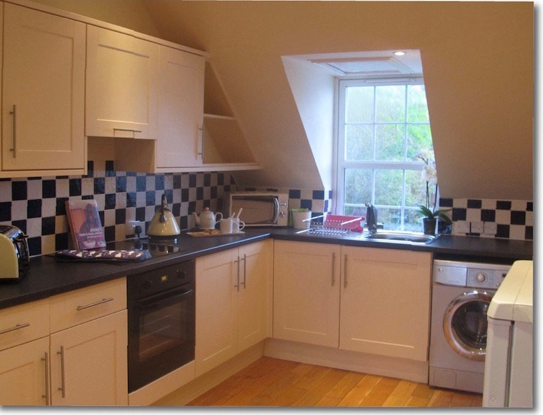 The kitchen at The Attic, self catering accommodation Portpatrick