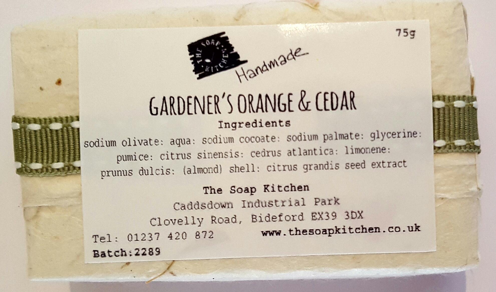 Gardener's Orange & Cedar Handmade Soap