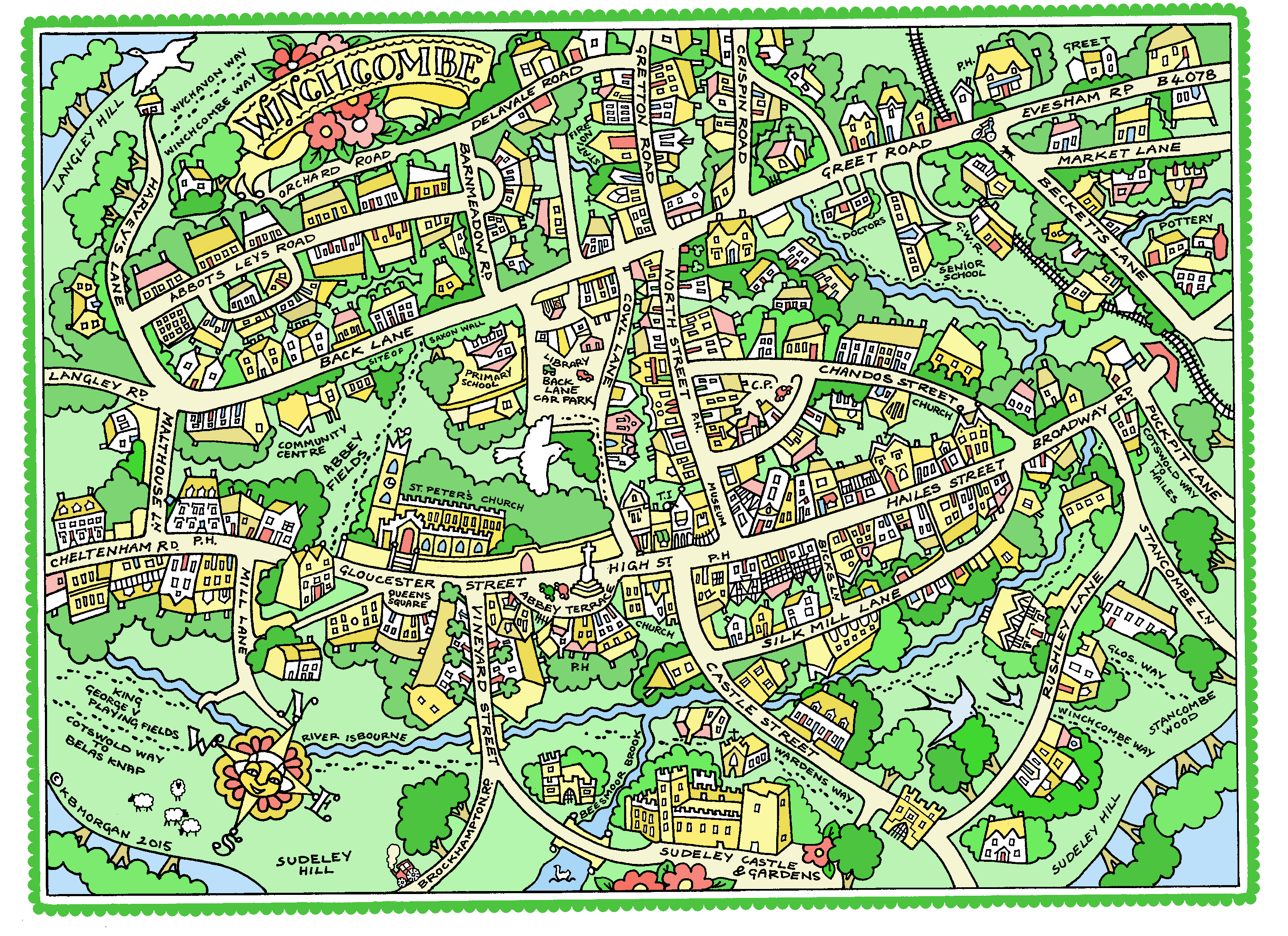 map for tea towel