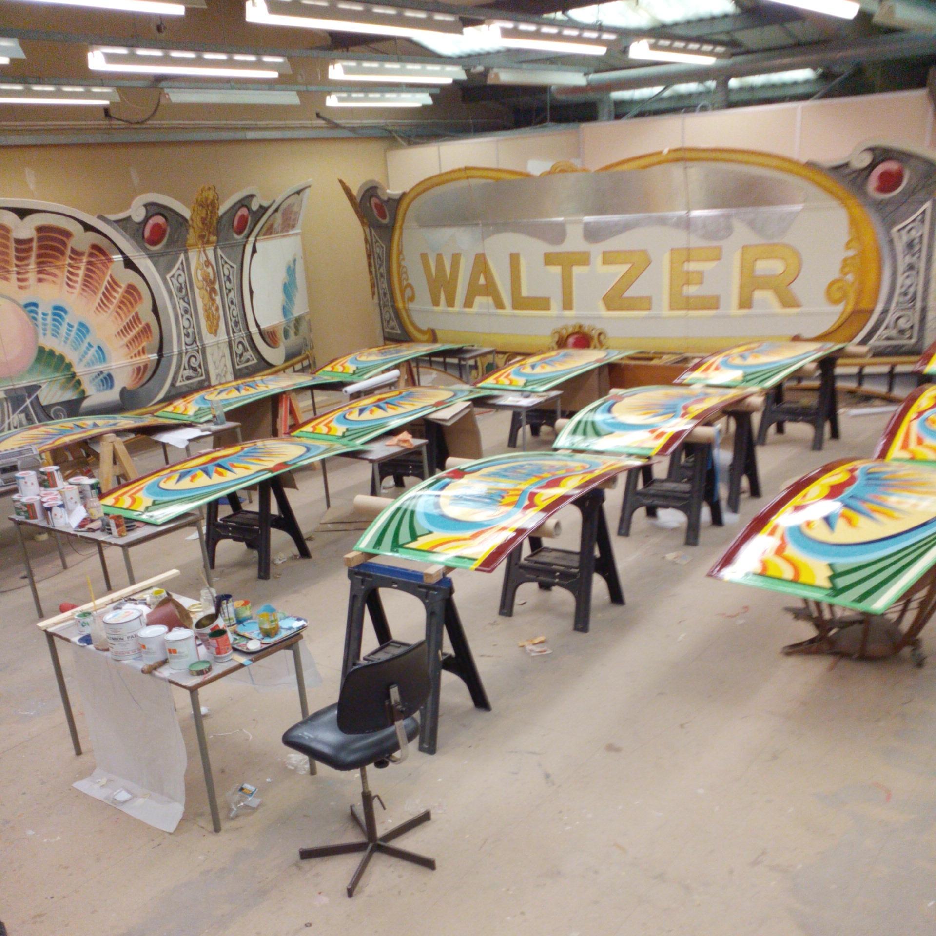 Painting a Fairground Waltzer -KBmorgan