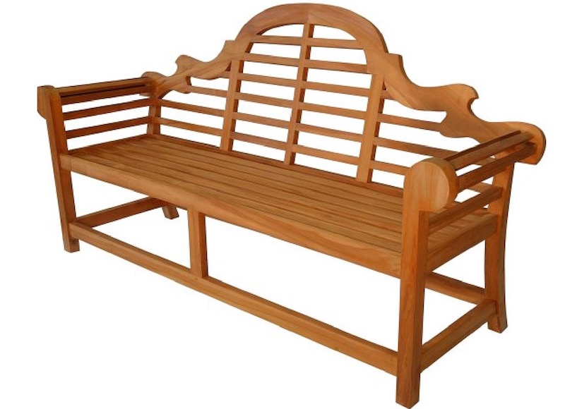 Beautiful Lutyens Bench in teak