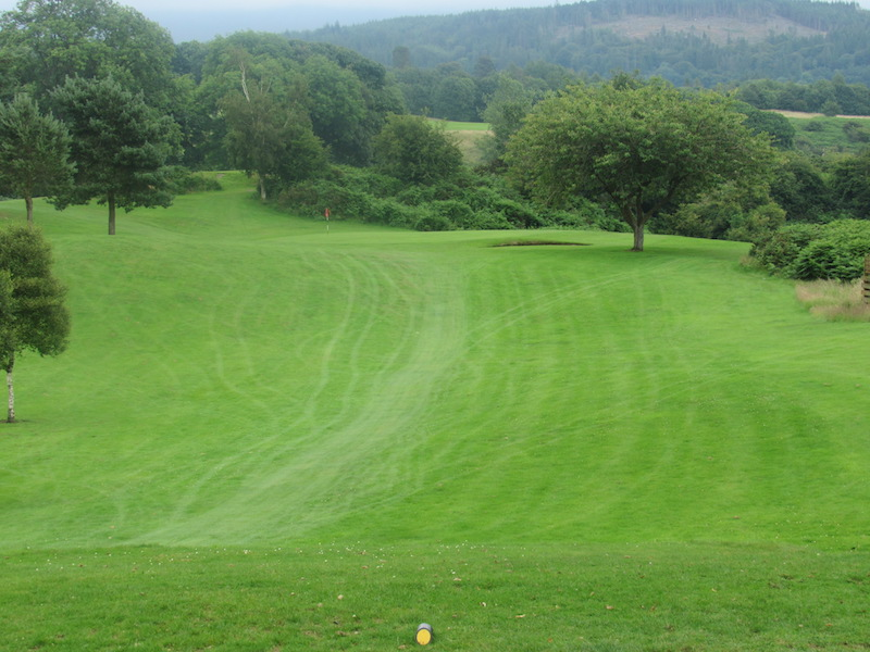 17th fairway at Newton Stewart Golf Club