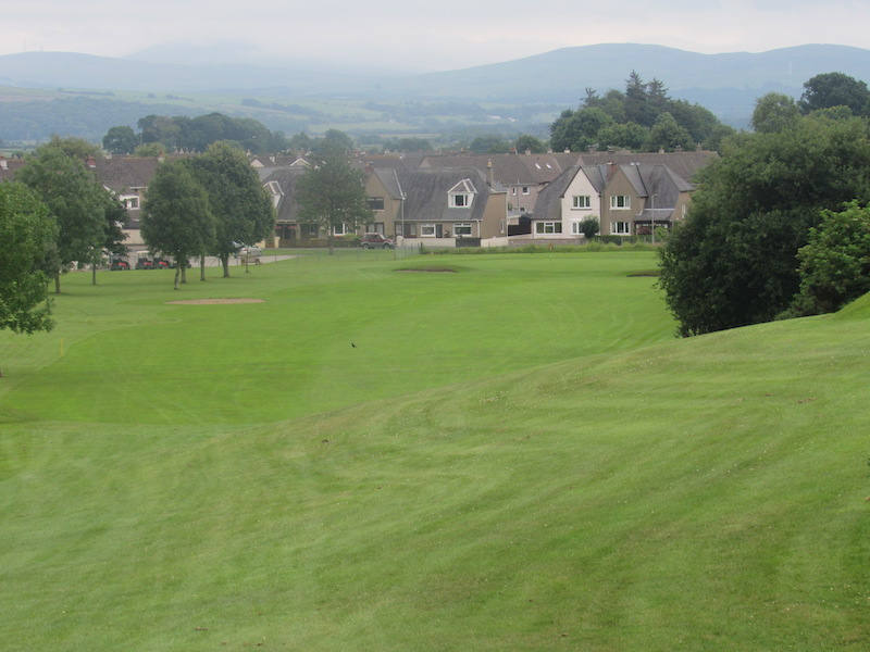 18th fairway at Newton Stewart Golf Club