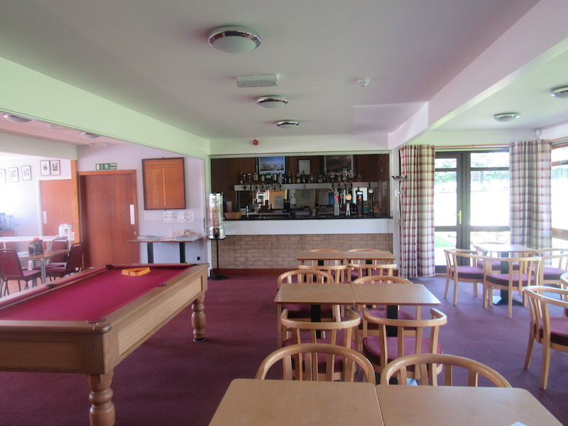 Inside the clubhouse at Newton Stewart Golf Club