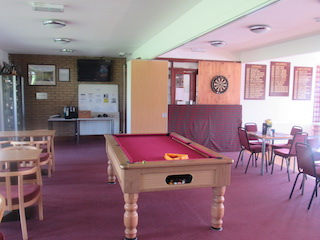 The pool table inside the Newton Stewart Golf Club Clubhouse