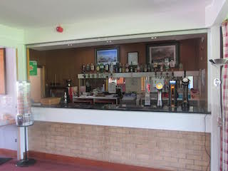 the bar at Newton Stewart Golf Club