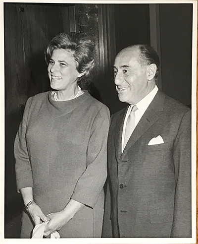 Alfred Eisenstaedt with his wife