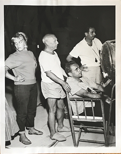Pablo Picasso with George Clouzot