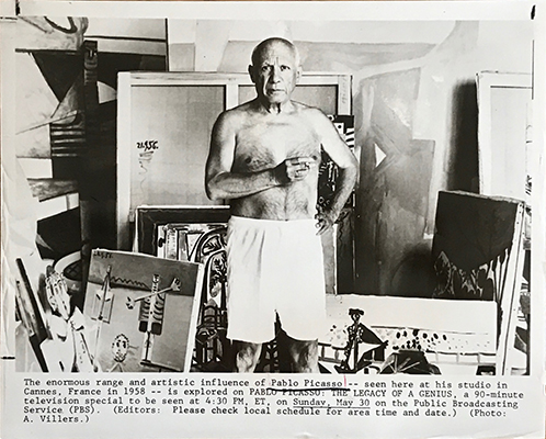 Pablo Picasso by Andre Villers